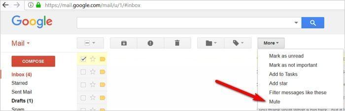 Gmail tricks and hacks - mute conversations