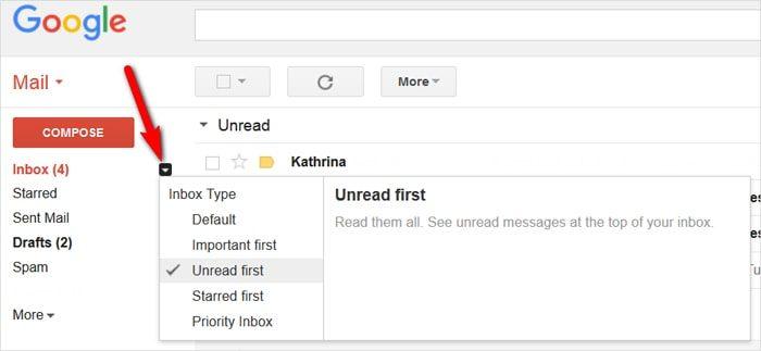 Gmail tricks and hacks - rearrange inbox