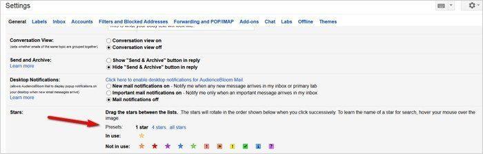Gmail tricks and hacks - stars