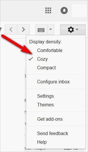 Gmail tricks and hacks - change display density