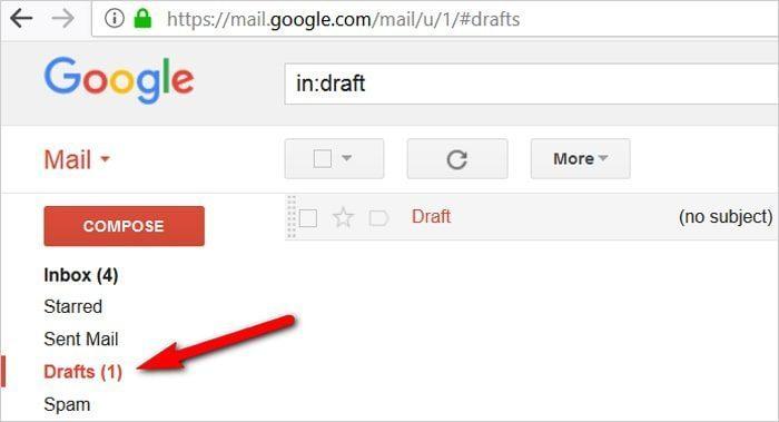 Gmail tricks and hacks - drafts