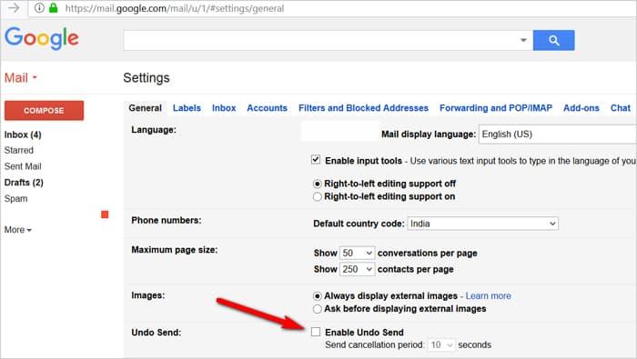 Gmail tricks and hacks - undo sent emails