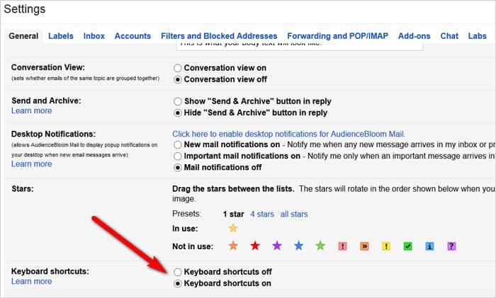 Gmail tricks and hacks - keyboard shortcuts