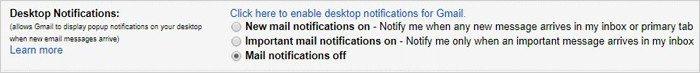 Gmail tricks and hacks - desktop notifications
