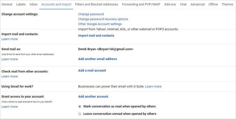 Multiple Account Integration
