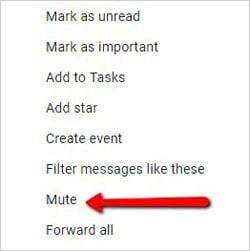 mute CC emails