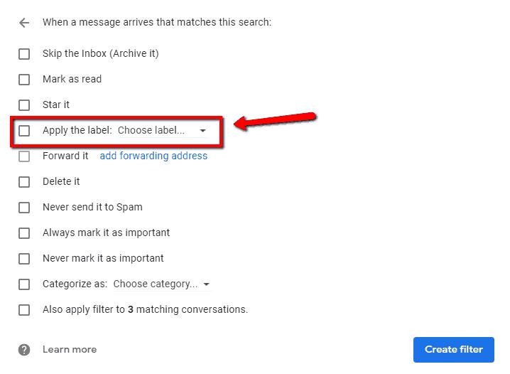 apply Gmail label