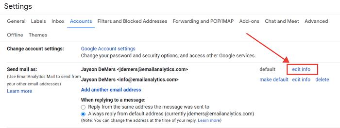 gmail account name
