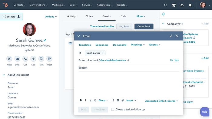 hubspot sales hub - sales engagement platforms